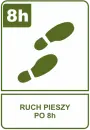 Ruch pieszy po 8h