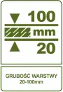 Grubość wastwy 20-100 mm